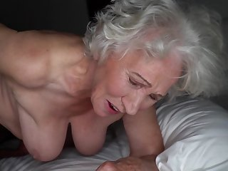 Grey-haired cunt be advisable for fat granny gets pounded by young stud