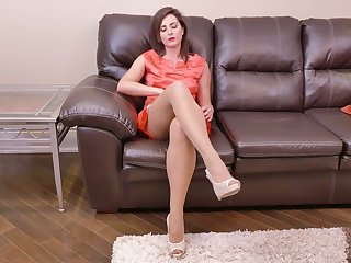 Lewd housewife Helena Expense is finger fucking hairy coupled with insatiable pussy