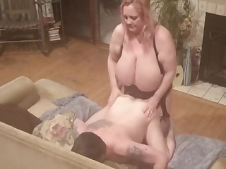 Sucking hubbys cock then pegging his ass permanent and deep with my strapon cock