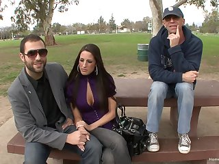 Busty pornstar picked up in the public and fucked without mercy