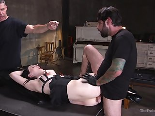 Submissive Alex Harper submits just about arousing bondage fuck