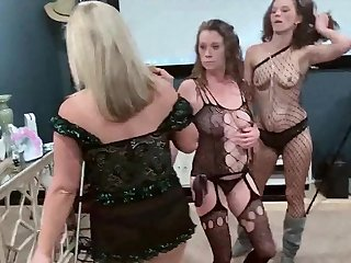 Wound up amateur sluts get hard fucked from behind in group sex
