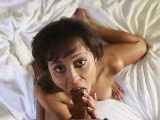 She smiles space fully milking and riding a big dick