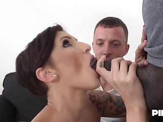 Gabrielle Gucci made her partner lick her slit for ages c in depth she was getting fucked by a black guy