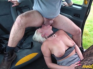 Rough pussy and mouth penetrating in the fake taxi with Kate Truu