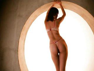 Inviting girlfriend Miku Aoyama drops her panties to dear one