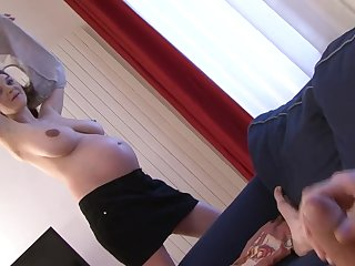 Nice fucking wide Mr Big pregnant wife Nikol ends wide a cumsho