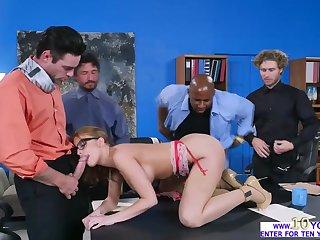 Britney Amber sucks yoke huge cocks