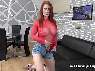 Redhead named Isabella Lui just feels awesome masturbating mortal physically