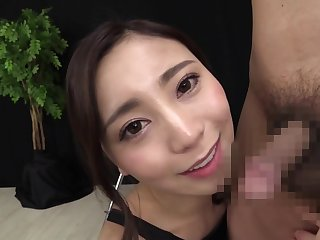Slutty Jap Stockings Call-girl Gives Handjob