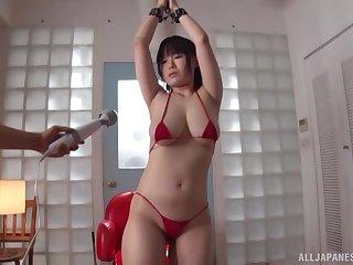 Sweet Futaba Hashizuku loves getting pleased with a vibrator