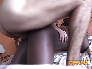 Fucking African amateur booty in my hotel room POV