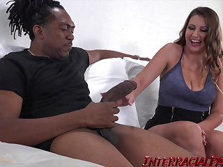 Ivy Rose gets her Pussy Stretched in her Artful Interracial