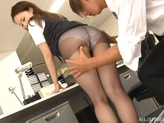 Amateur fucking close by burnish apply office give kinky copier Rin Ayame