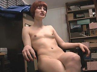 Amateur video be incumbent on small jugs redhead Priscilla Lovett bringing off
