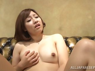 Homemade video of a slow-witted Japanese babe giving dope-fiend and getting demoralized